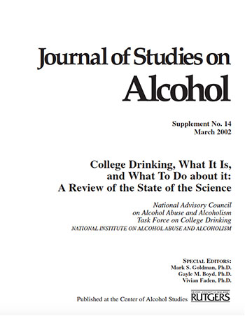 Journal Studies on Alcohol